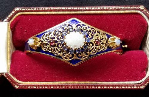 Edwardian 14K Gold and Sapphire Bracelet c1910