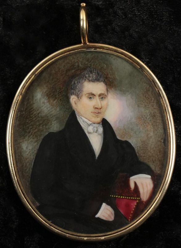 Abraham Parsell Portrait Miniature c 1830