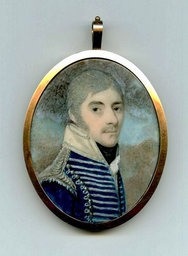 A Fine George Place Portrait Miniature c1800