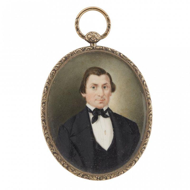 Christopher Greiner Portrait Miniature c1843