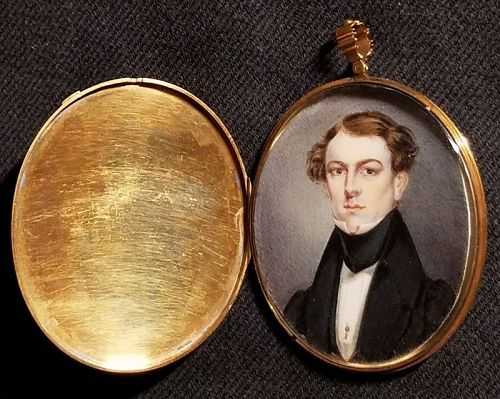 Thomas Barratt Miniature Portrait Gold Case c1835