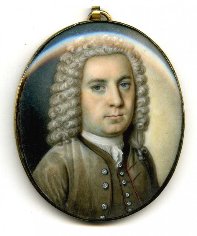 An Early Superb Miniature Portrait c1730