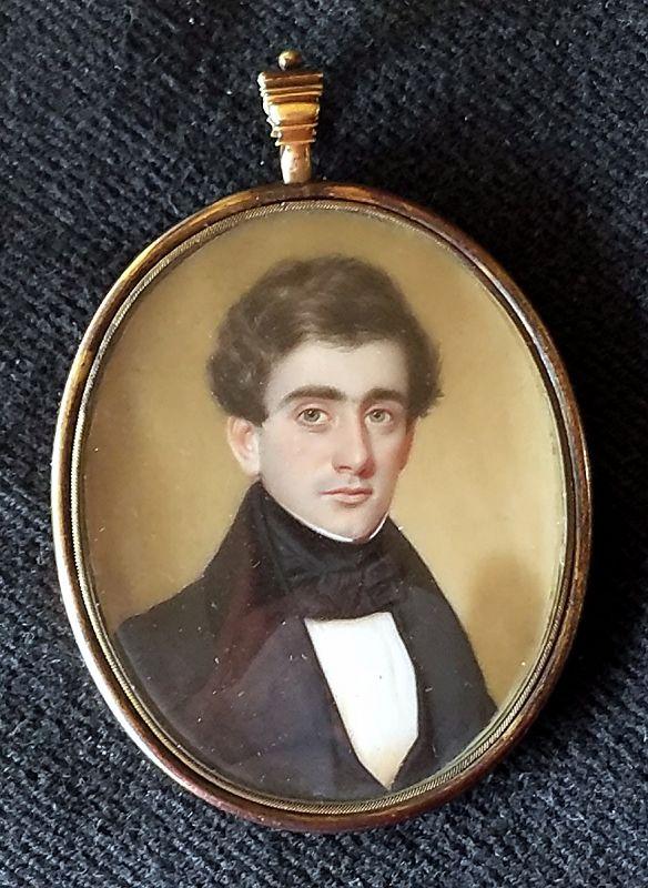 John Wood Dodge Portrait Miniature c1836