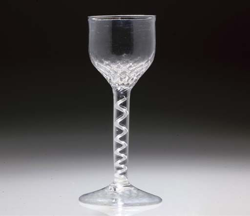Superb English Air Twist Wine Goblet c 1750