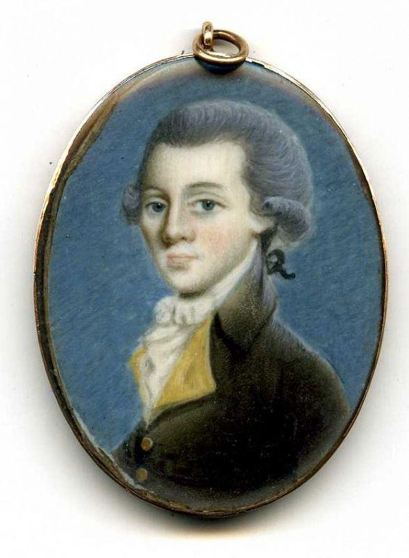A Superb Pierre Henri Portrait Miniature c1790
