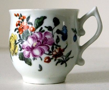 Rare Worcester Porcelain Coffee Cup c1760