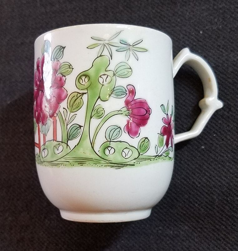 A Fine Longton Hall Porcelain Tall Cup c1755