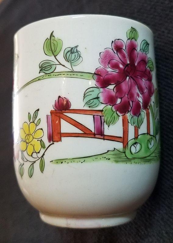 A Fine Longton Hall Porcelain Tall Cup c1755