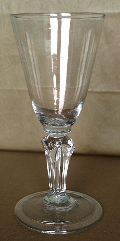 Molded Pedestal Stem Wine Glass c1745