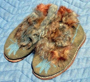 Navajo Child's Moccasins 19th Century