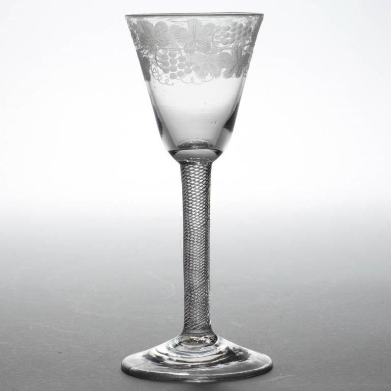 Georgian English Air Twist Wine Glass c1755