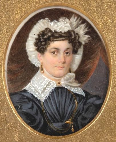 A Fine Miniature Portrait of a Woman c1830