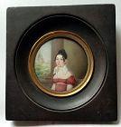 A Fine Hyacinthe  Mercier Portrait Miniature c1813