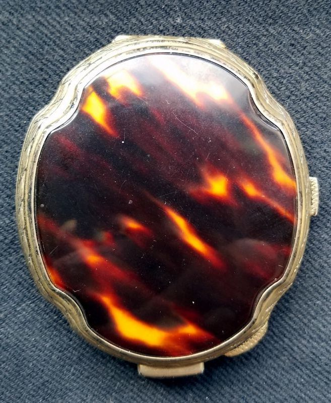 A Stunning Woman's Silver Compact 19th C