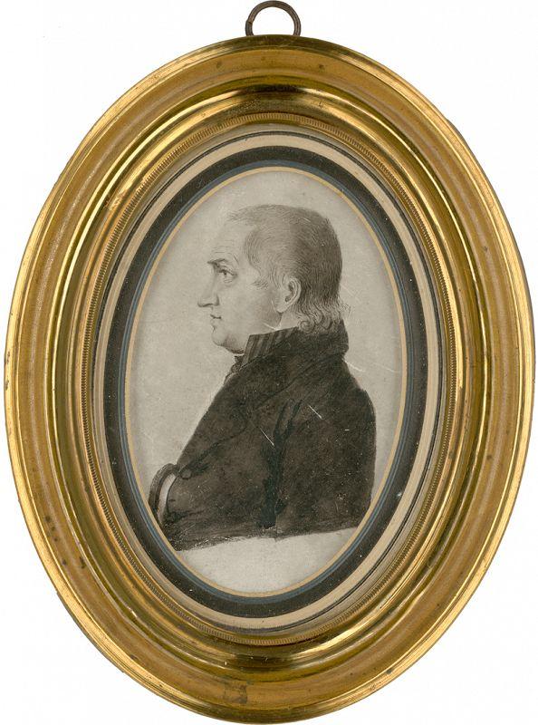Two Profiles of Gentlemen  c1800-1805
