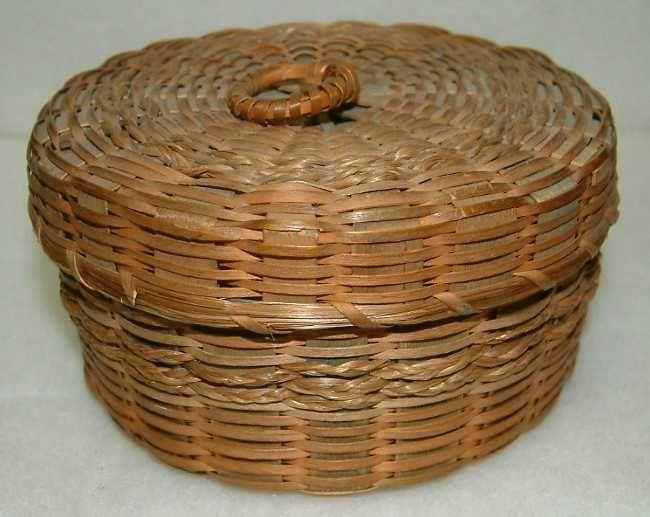 Two Penobscot Indian Baskets c1880