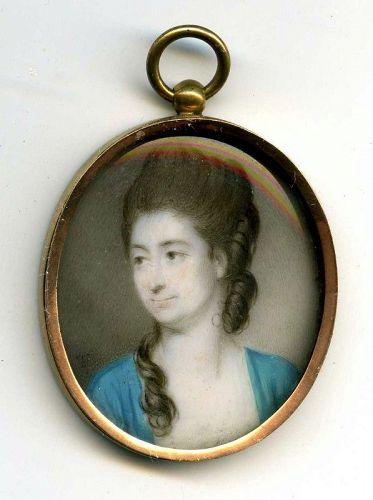 A Charming Jeremiah Meyer Portrait Miniature c1780