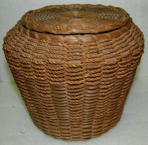 Three Penobscot Indian Baskets c1900