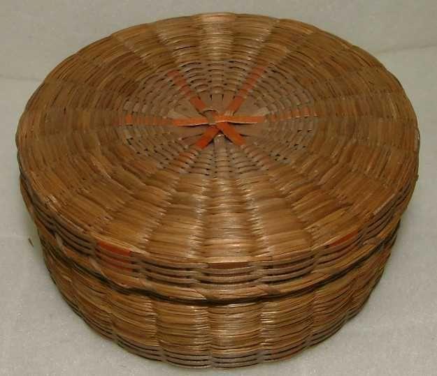 Three Penobscot Indian Baskets c1900