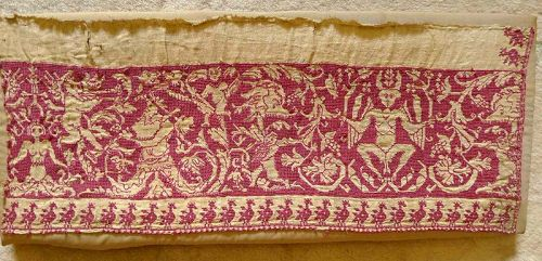 Early Italian Textile Exemplar Fragment 16th Century