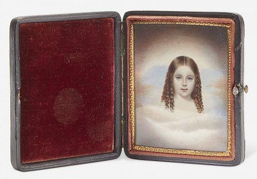 John Henry Brown Miniature Portrait c1845