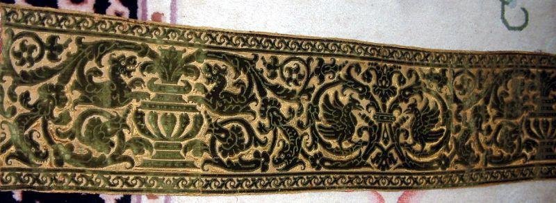 Early Italian Cut Velvet Panel 16th Century