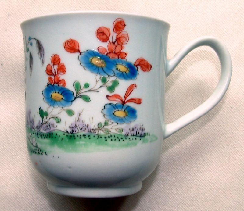Extremely Rare Early Worcester Coffee Cup c1755