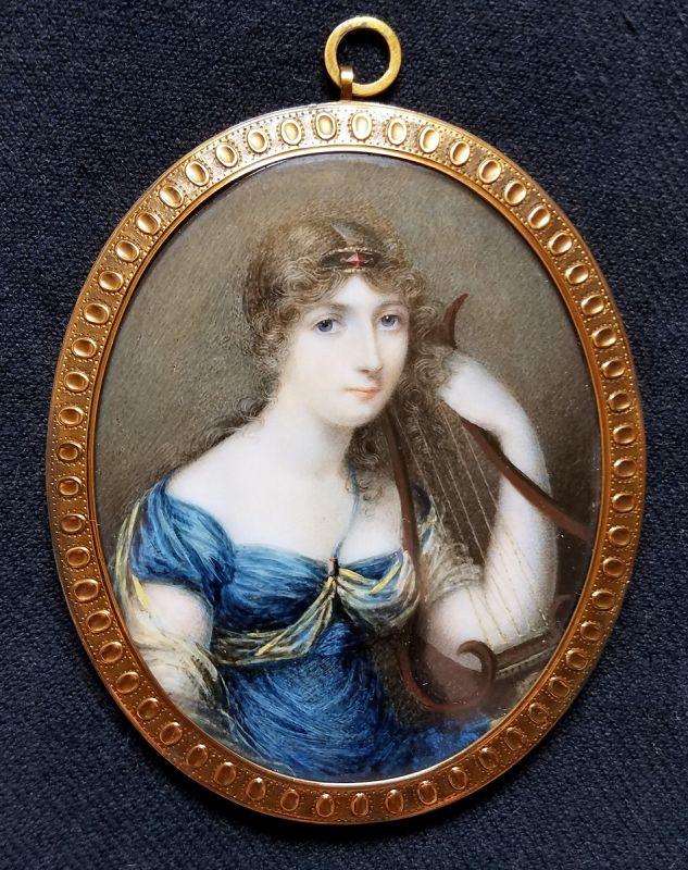 A Beautiful Mary Ann Knight Portrait Miniature c1820