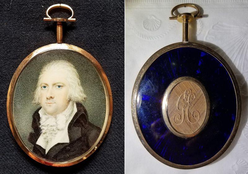 Very Rare John Miers Miniature Portrait c1790