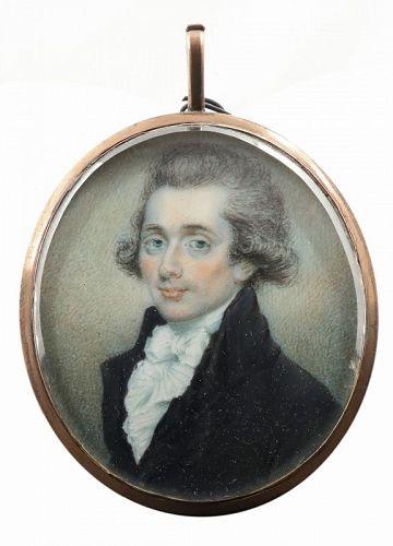 A Miniature Portrait of a Gentleman c1790