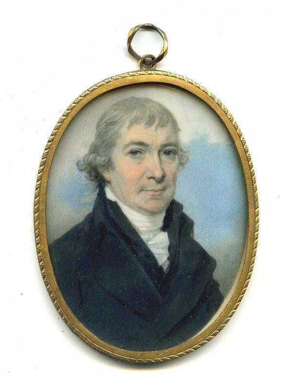 A Fine Thomas Richmond Portrait Miniature  of  a Gent c1795