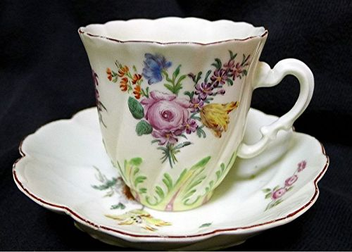 Superb Chelsea Spiral Molded Scolopendrium Cup/Saucer  c1754