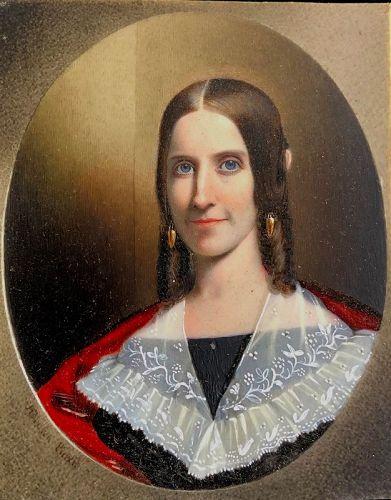 Exceptional John Henry Brown Portrait Miniature c1841