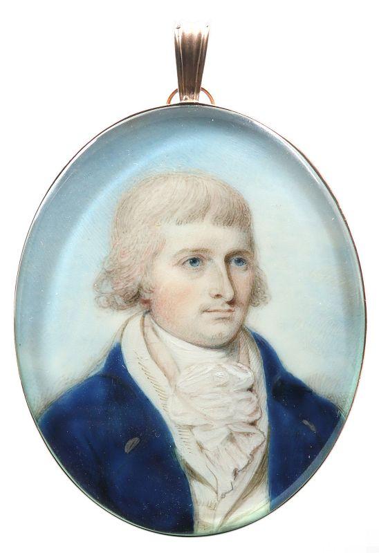 Thomas H. Hull Portrait Miniature  c1790