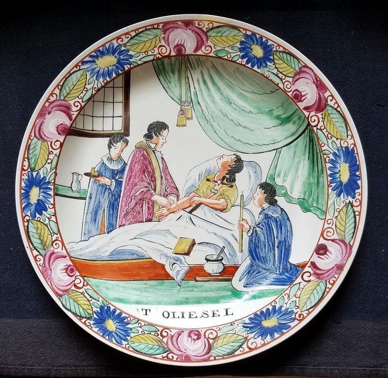 Fine English Sewell and Donkin Creamware Dish c1825