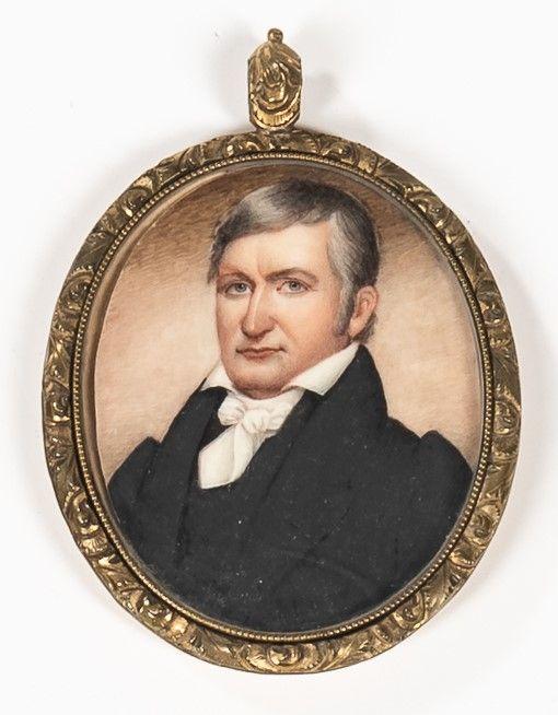 Rare Julius Rubens Ames Miniature Portrait c1825