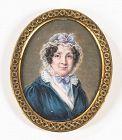 A Fine Hyacinthe Mercier Portrait Miniature c1824