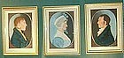 Rare Set of Pastel Family Portraits; c 1810