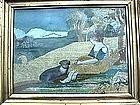 Needlework Picture c 1810