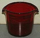 Rare Red Wine Rinser, c 1810