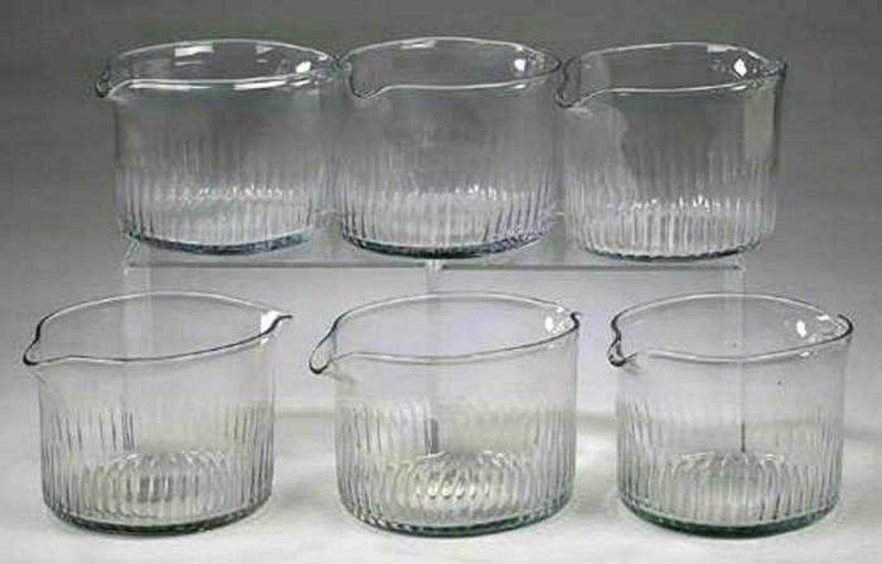 Set of 6 Rare Irish Wine Rinsers c1790