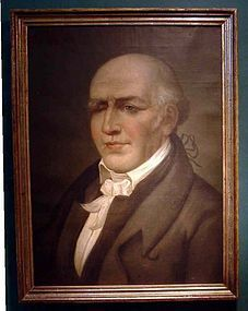 Oil on Canvas Portrait of Stephen Girard c 1850
