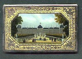Aide de Memoir with Reverse Painted Scene; C 1860