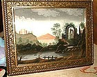 Pastel Color Sandpaper Painting  C 1850