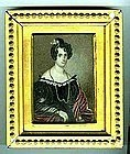 Fine Miniature Portrait of Woman C 1835