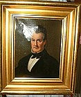 Oil on Canvas Portrait of New York Gentleman; C 1840