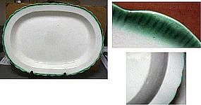 Large Shell Edge Leeds Platter; C 1810