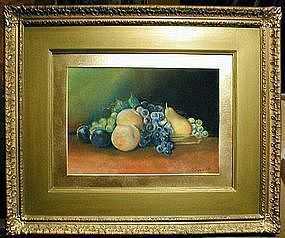 Folky William Chandler Still Life of Fruit  C 1880