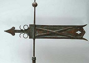 Superb Documented Banneret Weathervane; 19th C