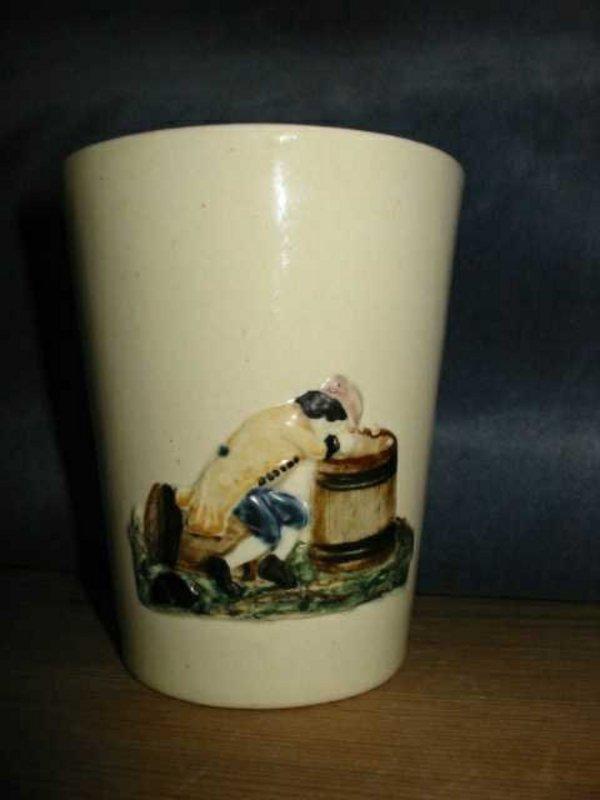Fantastic Creamware Mug  c1780